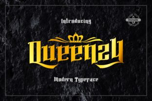 Print on Demand: Queenzy Display Font By ZetDesign
