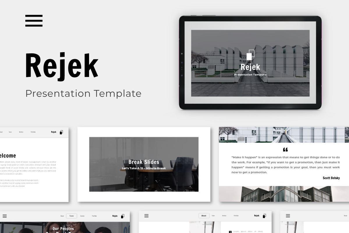 Download Free Rejek Business Keynote Template Graphic By Inkofert Createvedsgn for Cricut Explore, Silhouette and other cutting machines.
