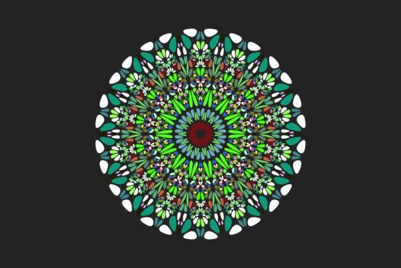 Download Free Round Colorful Pattern Mandala Art Graphic By Davidzydd for Cricut Explore, Silhouette and other cutting machines.