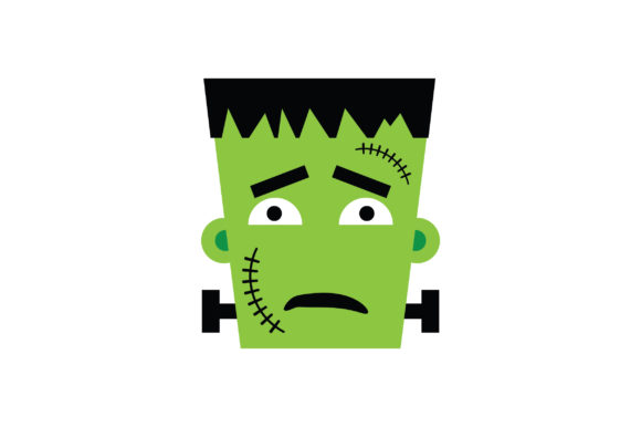 Download Free Sad Face Frankenstein Character Graphic By Fauzidea Creative for Cricut Explore, Silhouette and other cutting machines.