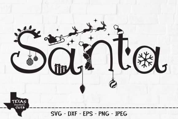 Print on Demand: Santa - Christmas Design Graphic Crafts By texassoutherncuts