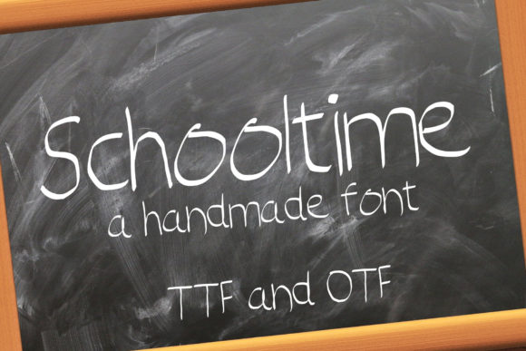 Print on Demand: Schooltime Script & Handwritten Font By denestudios