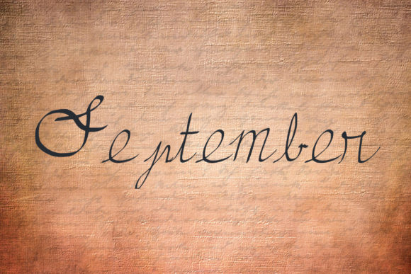 Print on Demand: September Script & Handwritten Font By denestudios