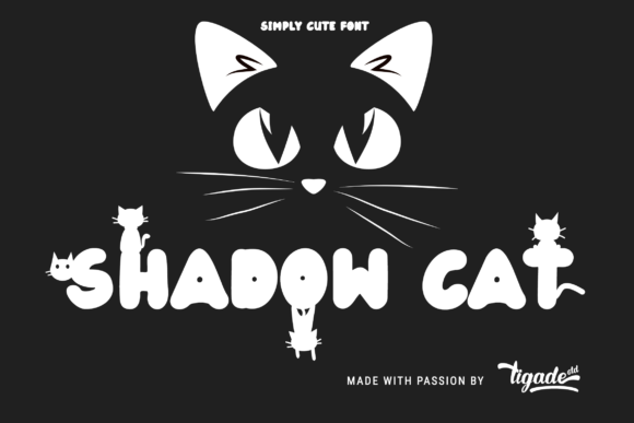 Download Free Shadow Cat Font By Tigade Std Creative Fabrica for Cricut Explore, Silhouette and other cutting machines.
