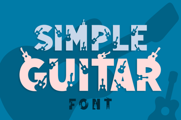 Print on Demand: Simple Guitar Display Schriftarten von Jasm (7NTypes)