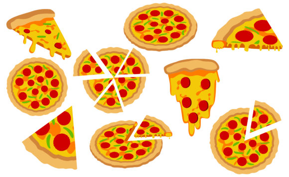 Print on Demand: Slice Pizza Vector Illustrations Bundle Gráfico Crafts Por Arief Sapta Adjie