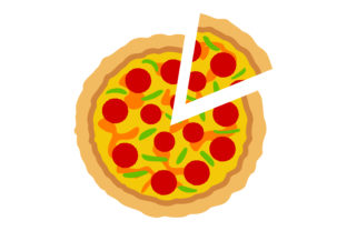 Print on Demand: Slice Pizza Vector Illustrations Graphic Crafts By Arief Sapta Adjie