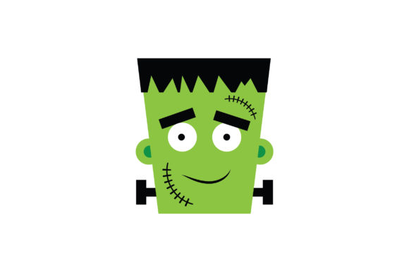 Download Free Smile Face Frankenstein Character Graphic By Fauzidea Creative for Cricut Explore, Silhouette and other cutting machines.