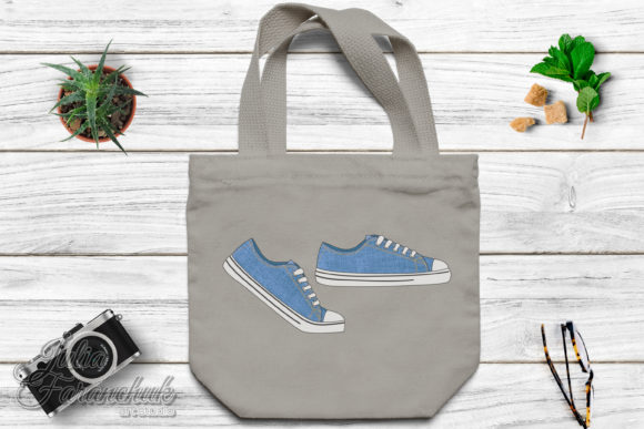 Download Free Sneakers Shoes Graphic By Yuliya Faranchuk Creative Fabrica for Cricut Explore, Silhouette and other cutting machines.