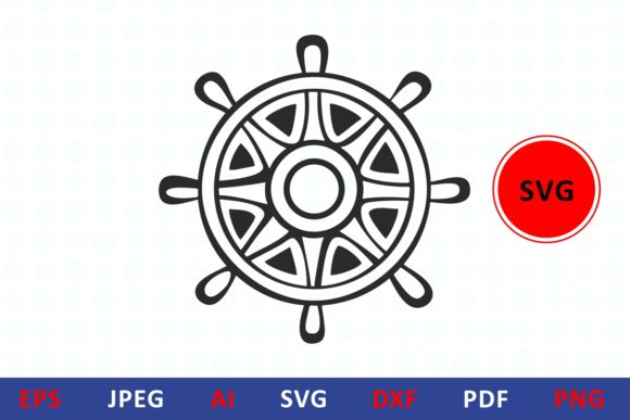Download Free Steering Wheel Icon Helm Graphic By Millerzoa Creative Fabrica for Cricut Explore, Silhouette and other cutting machines.
