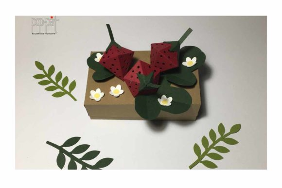 Download Free Strawberries Box Graphic By Patrizia Moscone Creative Fabrica for Cricut Explore, Silhouette and other cutting machines.