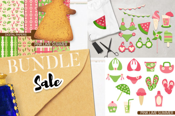 Download Free Summer Party Bundle Graphic By Revidevi Creative Fabrica for Cricut Explore, Silhouette and other cutting machines.