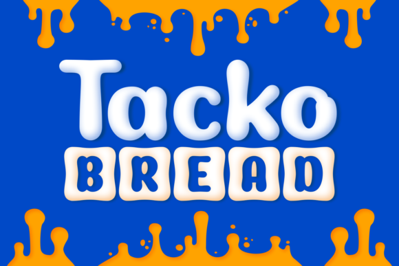 Print on Demand: Tackto Bread Display Font By Situjuh