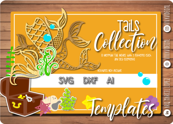 Print on Demand: Tail Collection Graphic Print Templates By Marcel de Cisneros