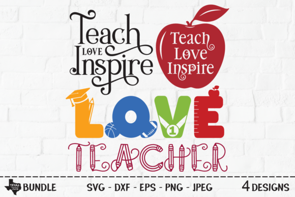 Download Free Teacher Bundle Teacher Shirt Designs Graphic By for Cricut Explore, Silhouette and other cutting machines.