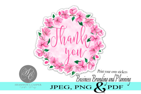 Print on Demand: Thank You Print and Cut  Stickers Graphic Illustrations By Shannon Casper