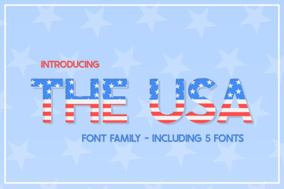 Print on Demand: The USA Display Font By Salt & Pepper Designs