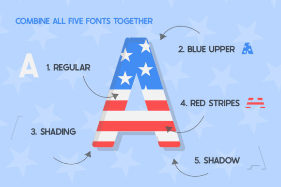 Print on Demand: The USA Display Font By Salt & Pepper Designs - Image 2