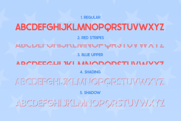 Print on Demand: The USA Display Font By Salt & Pepper Designs - Image 4