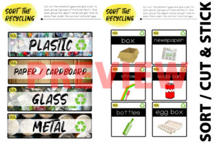 Download Free Trash And Recycling Sort The Recycling Graphic By Saving The for Cricut Explore, Silhouette and other cutting machines.