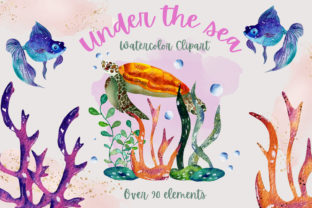 Print on Demand: Under the Sea Collection Graphic Illustrations By Andreea Eremia Design