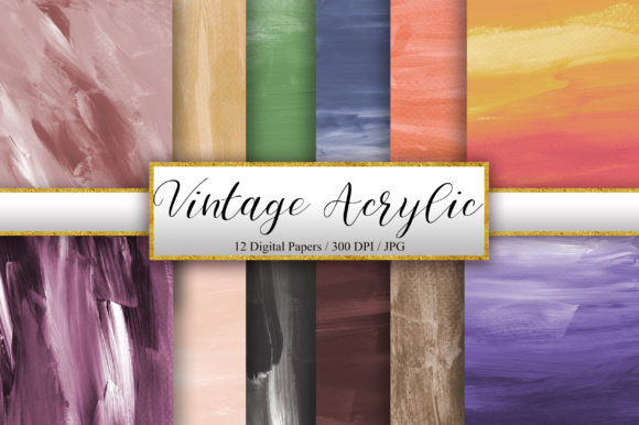 Vintage Acrylic Texture Background Graphic Backgrounds By PinkPearly