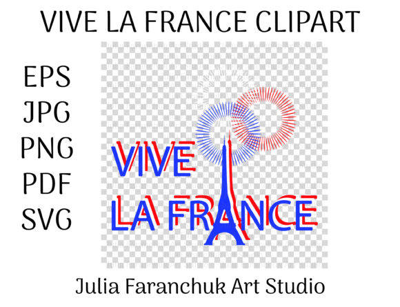 Download Free Vive La France Bastille Day Clipart Graphic By Yuliya Faranchuk for Cricut Explore, Silhouette and other cutting machines.
