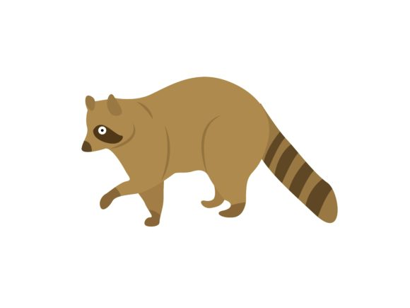 Download Free Walking Raccoons Animal Graphic By Archshape Creative Fabrica for Cricut Explore, Silhouette and other cutting machines.
