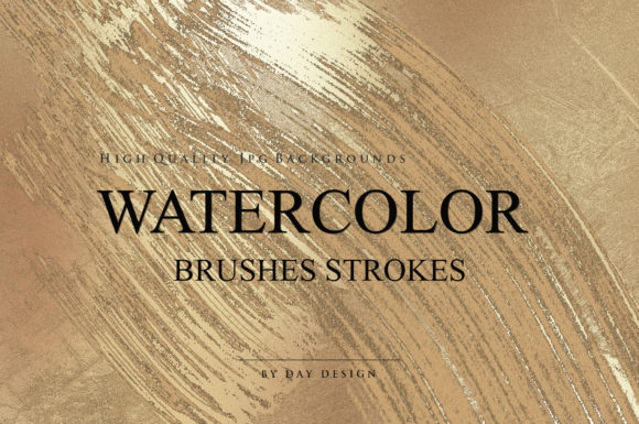 Watercolor Brushes Strokes Textures Graphic Backgrounds By DAYDESIGN