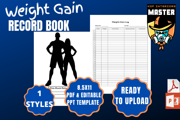 Download Free Weight Gain Record Book Graphic By Kdp Interiors Master for Cricut Explore, Silhouette and other cutting machines.