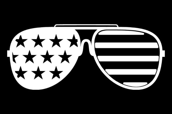Print on Demand: White American Flag Sunglasses Graphic Logos By SunandMoon - Image 1