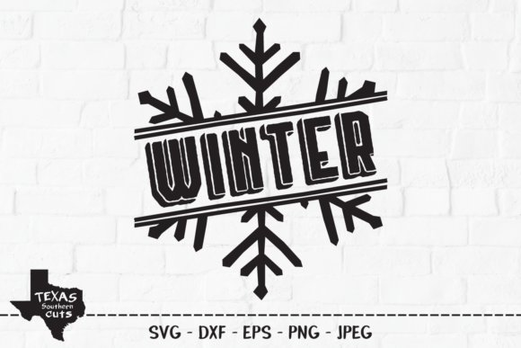 Print on Demand: Winter - Christmas Snowflake Design Graphic Crafts By texassoutherncuts