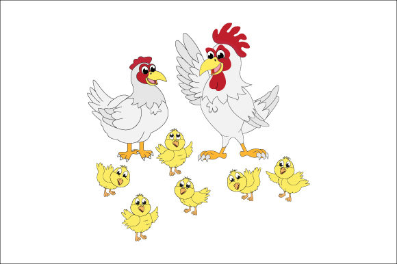 Download Free Chicken Family Graphic By Curutdesign Creative Fabrica for Cricut Explore, Silhouette and other cutting machines.