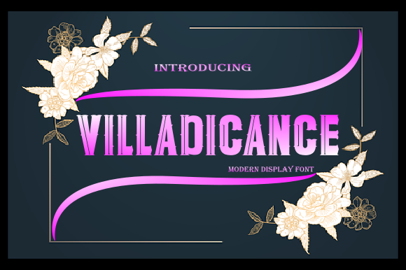 Print on Demand: Villadicance Display Font By teguh pranata