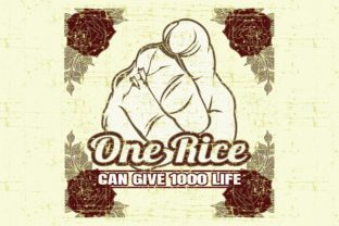 Grunge Style Vector Quote About One Rice Graphic Illustrations By Epic.Graphic