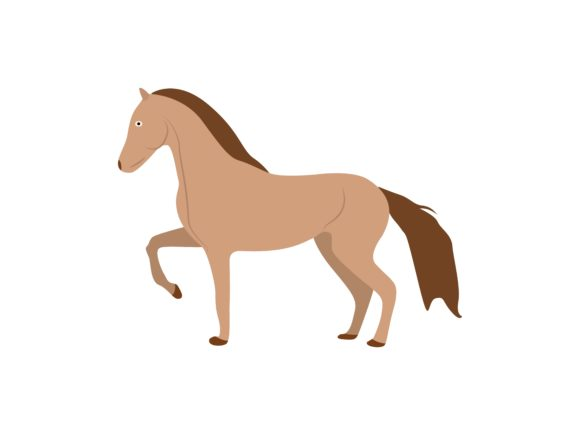 Download Free Horse Facing Left Animal Graphic By Archshape Creative Fabrica for Cricut Explore, Silhouette and other cutting machines.