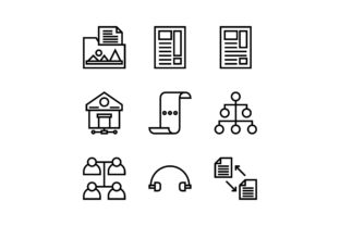 Networking Black and White Line Icon Graphic Icons By muhammadfaisal40
