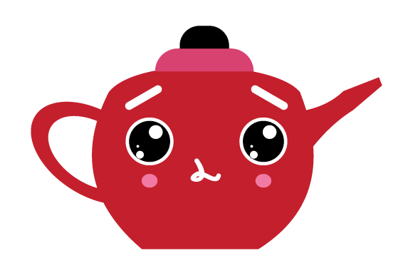 Download Free Red Kettles With Facial Expressions Graphic By Yapivector for Cricut Explore, Silhouette and other cutting machines.