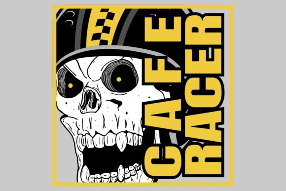 Download Free Skull Helmet Cafe Racer Graphic By Epic Graphic Creative Fabrica for Cricut Explore, Silhouette and other cutting machines.