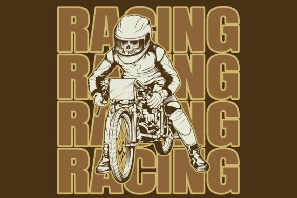Download Free Skull Riding A Motorcycle Ready Graphic By Epic Graphic for Cricut Explore, Silhouette and other cutting machines.