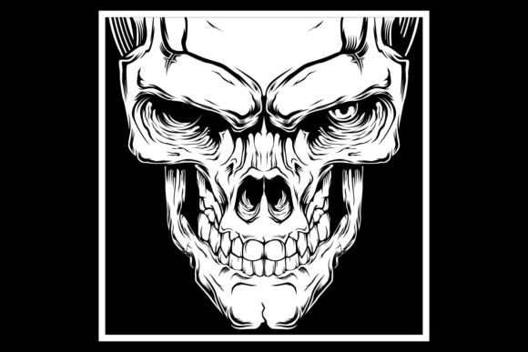 Skull Vector Hand Drawing Shirt Designs Graphic By Epic