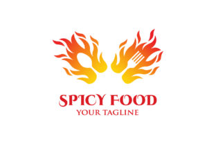 Spicy Food Logo Design Template Vector Graphic Logos By syaefulans