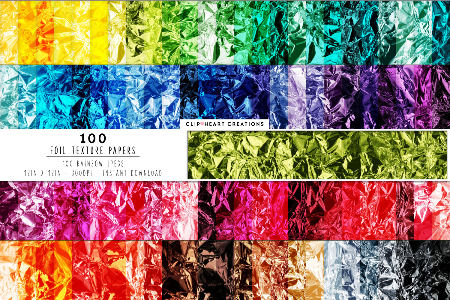 Download Free 100 Crumpled Foil Digital Paper Textures Graphic By Clipheartcreations Creative Fabrica for Cricut Explore, Silhouette and other cutting machines.