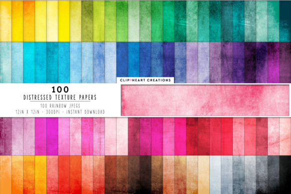 100 Distressed Grunge Texture Papers Graphic Backgrounds By clipheartcreations