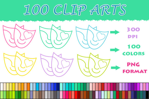100 Face Mask Clip Art Graphic By Sweetdesign Creative Fabrica