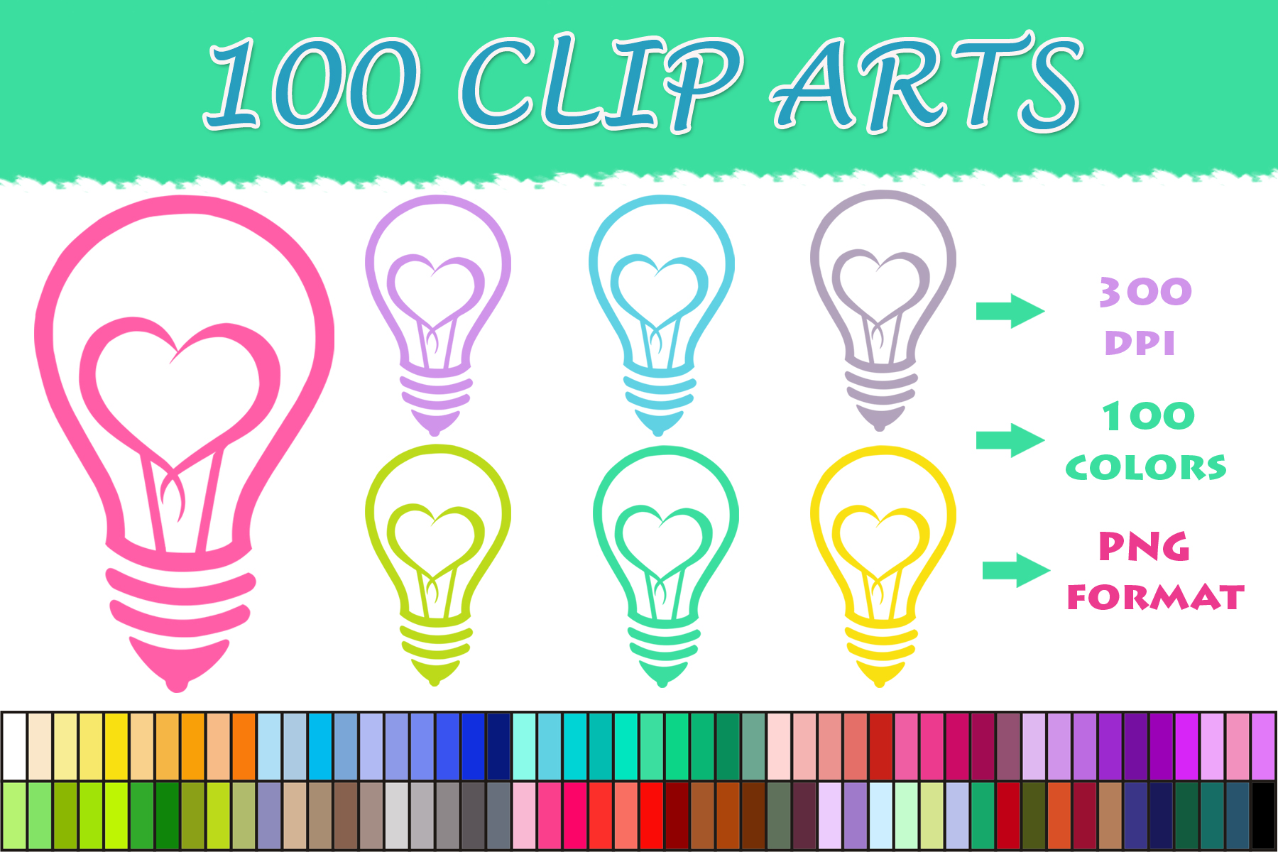 Download Free 100 Heart Bulb Clip Art Graphic By Sweetdesign Creative Fabrica for Cricut Explore, Silhouette and other cutting machines.