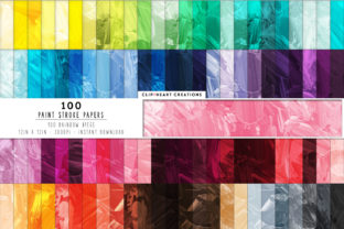 100 Messy Paint Strokes Papers Graphic Backgrounds By clipheartcreations