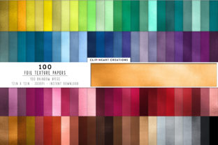 100 Metallic Foil Digital Paper Textures Graphic Backgrounds By clipheartcreations