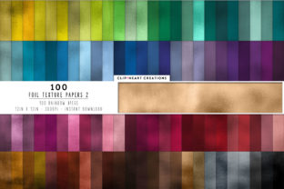100 Metallic Foil Textures Graphic Backgrounds By clipheartcreations