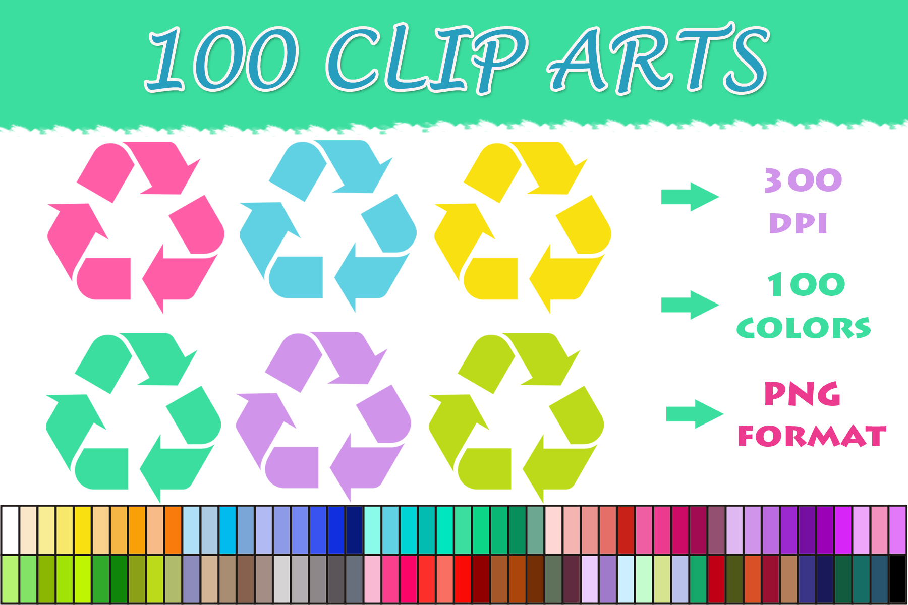 Download Free 100 Recycling Symbol Clip Art Graphic By Sweetdesign Creative for Cricut Explore, Silhouette and other cutting machines.